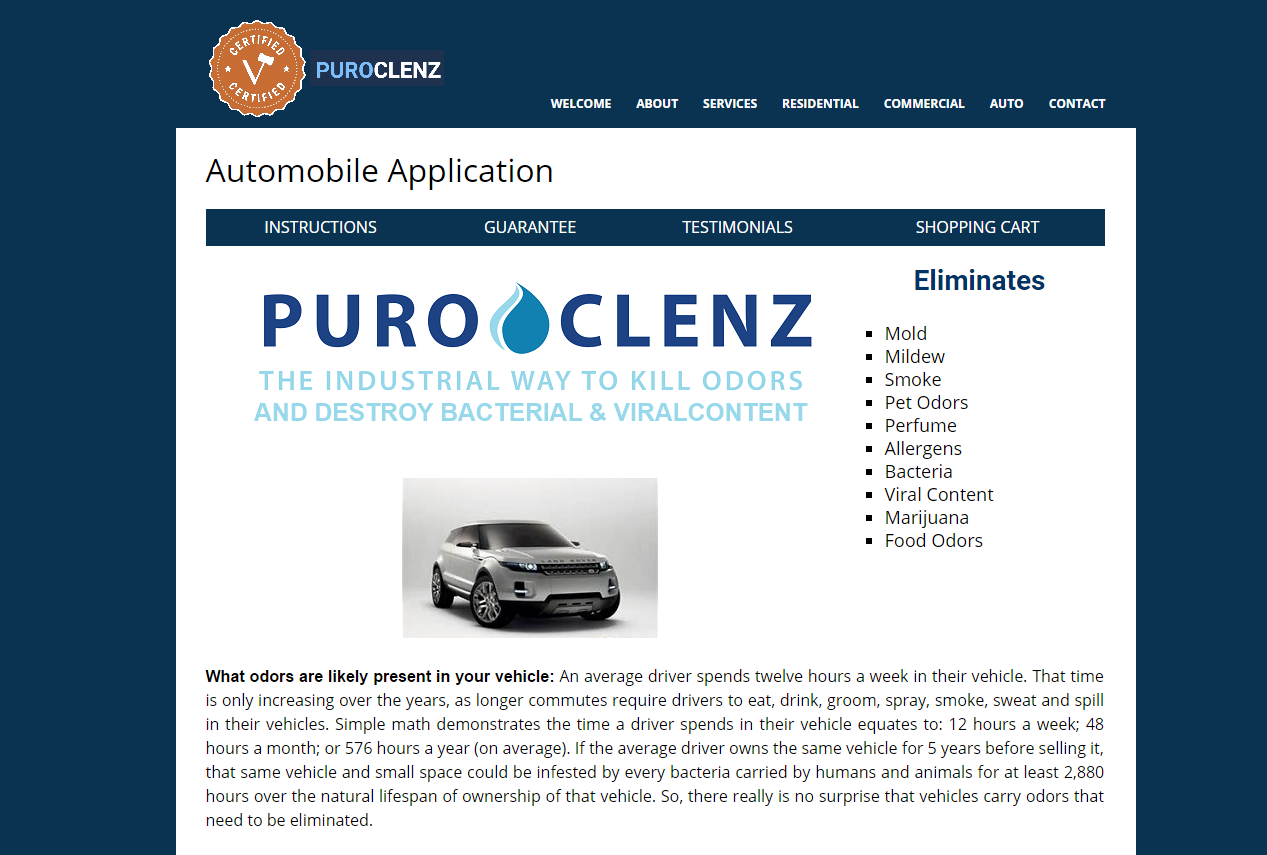 PuroClenz – The industrial way to eliminate odors